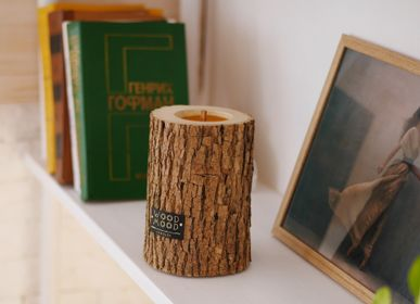 Gifts - ROCKY M | Interior candle made of wood, beeswax and natural oils - WOOD MOOD