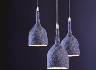 """Objets de décoration - Luminaire : suspension pièce unique en papier mâché -  Baladeuse modèle """"VICTOIRE"""" - MARIE TALALAEFF"""