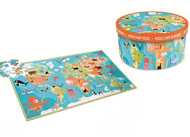 Children's games - Animals of the world World puzzle  - SCRATCH EUROPE