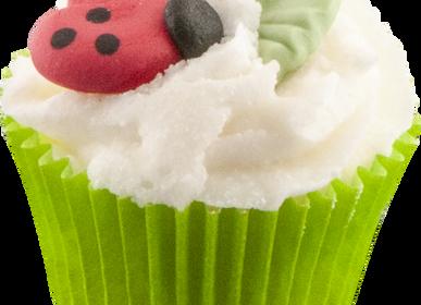 Cosmétiques - Mini Cupcake Porte Bonheur - Coccinelle  - AUTOUR DU BAIN