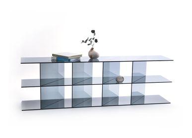 Bookshelves - MONOLOG SHELF OR GLASS CASE - GLASSVARIATIONS