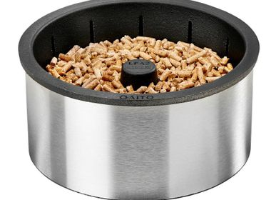 Decorative objects - Pellet burner for fireplaces and wood stoves - QAÏTO