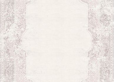 Bathrobes - Aubusson Vintage Dusty Rose Rug - TAPIS ROUGE
