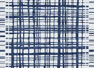 Autres tapis - Brookfield Navy Tapis Géométrique Bleu - TAPIS ROUGE