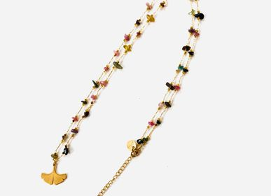 Jewelry - Long necklace Ginkgo Tourmaline - LITCHI