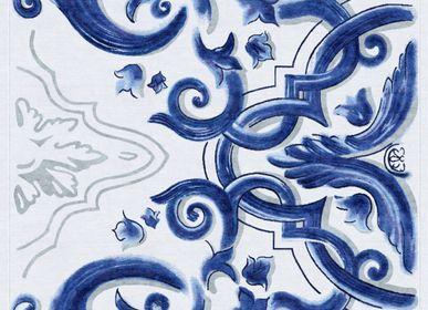 Tapis - Biancafiore Tapis Doux Blanc Bleu - TAPIS ROUGE
