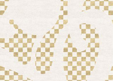Tapis - Barcelona Chequers Tapis Géométrique Beige - TAPIS ROUGE