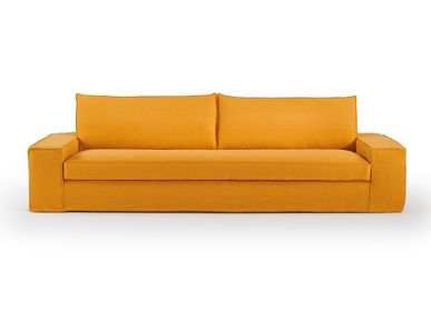 Objets personnalisables - Canapé composable Cocoon orange - SOFAREV