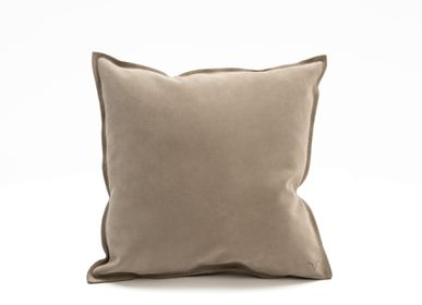 Fabric cushions - Double face leather cushion - STUDIO SABATIER