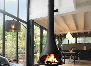 Unique pieces - Hanging central wood fireplace - Tatiana 997 - JC BORDELET