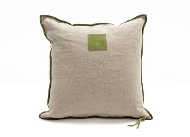 Fabric cushions - Raw linen cushion - STUDIO SABATIER