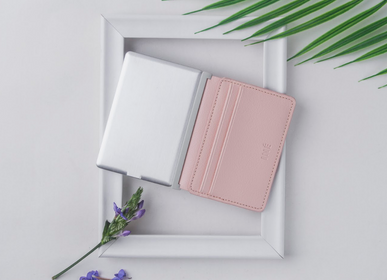 Other smart objects - Iné Card Holder - The Wallet Recycled Leather Pink - XOOPAR