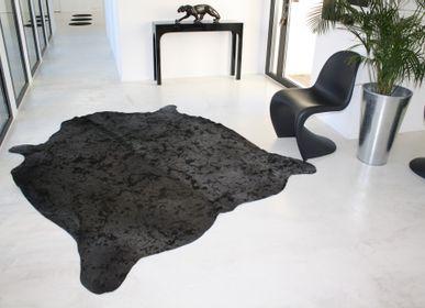 Contemporary carpets - Peau de vache méchée grise - TERGUS