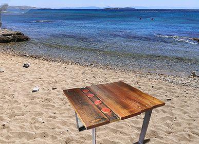 Tables Salle à Manger - Table modèle U base plateau en bois durable - LIVING MEDITERANEO