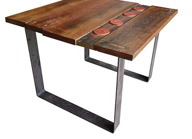 Dining Tables - Table model  U base sustainable wooden top - LIVING MEDITERANEO