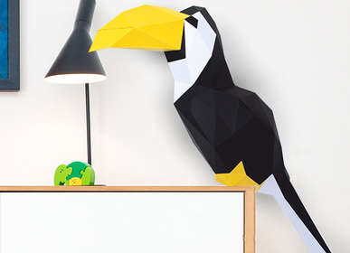Decorative objects - Paper Decoration - 3D Paper Toucan Trophy - AGENT PAPER