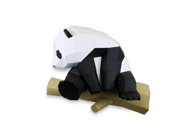 Decorative objects - Paper Decoration - Panda Trophy on Branch  - AGENT PAPER