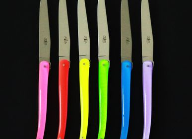 Cadeaux - Couteaux de table Jean-Michel Wilmotte en dacryl®, coffret de 6 - FORGE DE LAGUIOLE