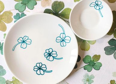 Everyday plates - Four-leaf clover aperitivo set_Plates - FRANCESCA COLOMBO