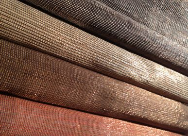 Upholstery fabrics - POLYCUPPER abaca and copper wire - BISSON BRUNEEL
