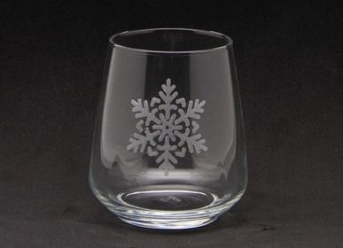 Glass - Water glass small flake decoration 35cl - CRÉATIONS LÉONIE'S FRANCE