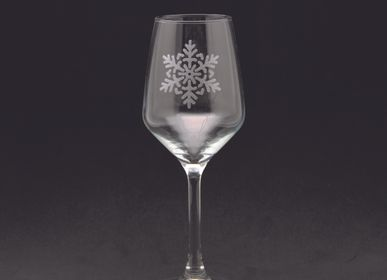 Stemware - Wine glass small flake decoration 31cl - CRÉATIONS LÉONIE'S FRANCE