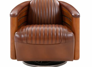 Office seating - NAUTILUS swivel armchair - DE BEJARRY INTERNATIONAL