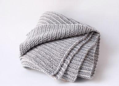 Plaids - FRAN couverture.  Handmade in 100%baby alpaga - SOL DE MAYO
