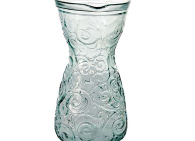 Carafes - Decanter recycled glass scrolls 1L - CRÉATIONS LÉONIE'S FRANCE