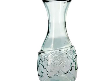 Carafes - Recycled glass decanter boy & girl 1L - CRÉATIONS LÉONIE'S FRANCE