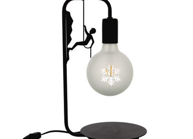 Table lamps - Pack: table lamp black mountaineer +flake led bulb - CRÉATIONS LÉONIE'S FRANCE