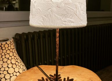 Table lamps - Flake floor lamp rusty effect - CRÉATIONS LÉONIE'S FRANCE