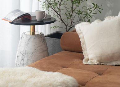 Objets design - Table d'appoint marbre avec plateau en bois | Pupil - URBAN LEGEND
