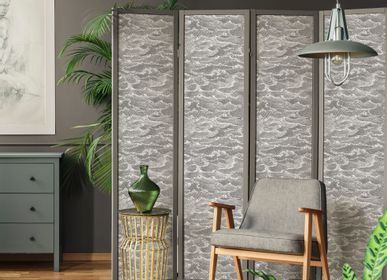 Other wall decoration - Wallpaper Waves Gris souris - PAPERMINT