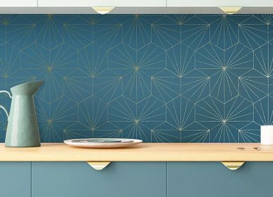 Other wall decoration - Wallpaper Tiles Bleu Pétrole - PAPERMINT