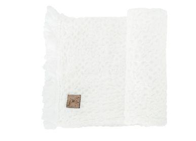 Bath towels - LINEN WAFFLE TOWEL, 26 x 58 cm - XERALIVING