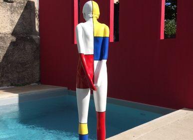 Sculptures, statuettes et miniatures - Sculpture Coline «Mondrian» - RONAYETTE MARIE-NOELLE