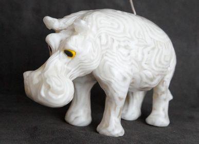 Decorative objects - HIPPOPOTAMUS CANDLE CONGO WHITE - KANDHELA