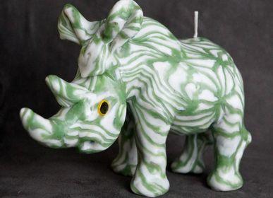 Decorative objects - RHINOCEROS GREEN WEB CANDLE - KANDHELA