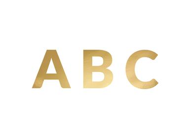 Décor de fête pour enfant - Bannière Alphabet, or, 14cm - PARTYDECO