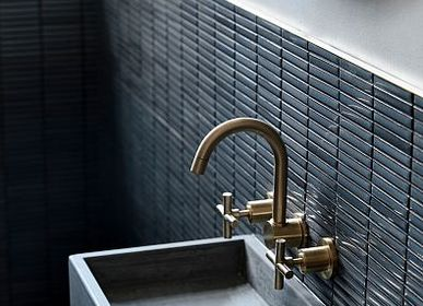 Faience tiles - Yohen - Porcelain Tiles - RAVEN - JAPANESE TILES