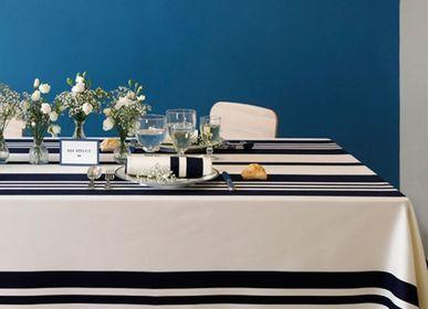 Linge de table textile - Nappe en coton Pampelune Encre (plusieurs tailles disponibles) - LA MAISON JEAN-VIER
