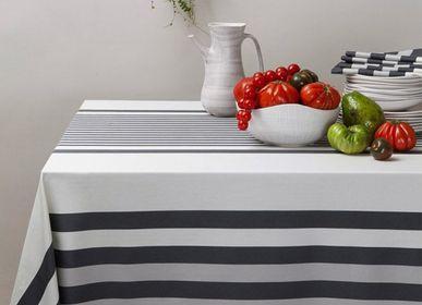 Table linen - Ainhoa Réglisse Cotton Tablecloth (several sizes available) - LA MAISON JEAN-VIER