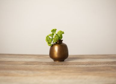 Vases - HANAMITSUBO brass flower vase - NOUSAKU