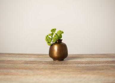 Vases - HANAMITSUBO vase à fleurs en laiton - NOUSAKU