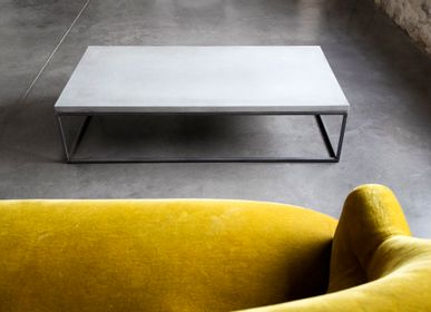 Coffee tables - prespective - rectangular concrete coffee table - LYON BÉTON