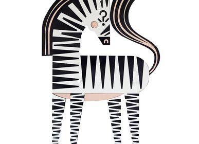 Autres décorations murales - HAMLET the zebra // décoration murale tactile - MINI ART FOR KIDS