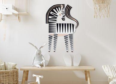 Autres décorations murales - HAMLET le zèbre//décoration murale tactile - MINI ART FOR KIDS