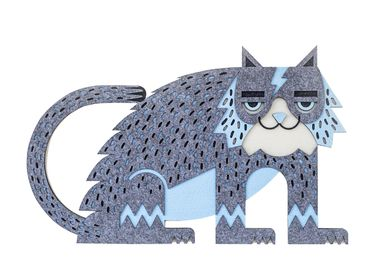 Autres décorations murales - FLASH the cat // décoration murale tactile  - MINI ART FOR KIDS