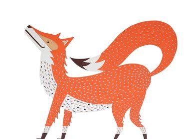 Autres décorations murales - REDDY the fox // décoration murale tactile - MINI ART FOR KIDS